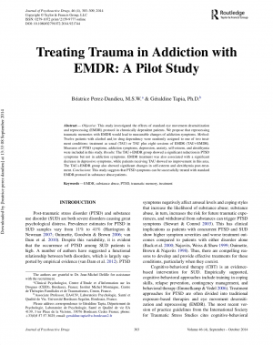 Treating Trauma in Addiction with EMDR : A pilot Study