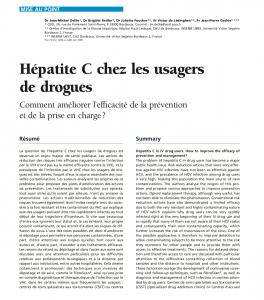 Hépatite C chez les usagers de drogues