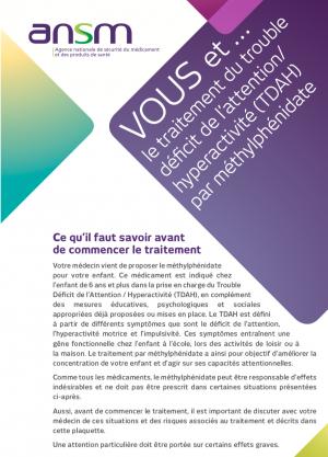 Données d'utilisation et mesures visant à sécuriser l'emploi du méthylphénidate en France