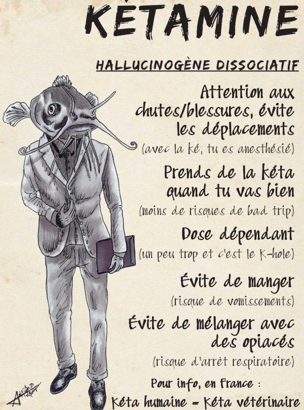 Kétamine : hallucinogène dissociatif