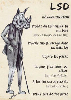 LSD : hallucinogène