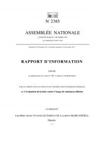 Rapport : Lutte contre l'usage des substances illicites