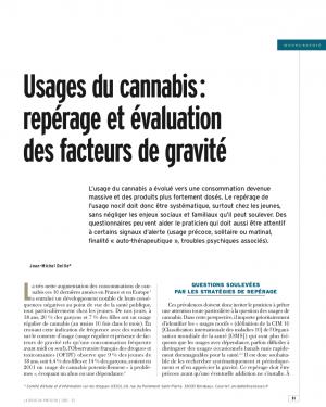 Usages du cannabis : repérage et évaluation des facteurs de gravité